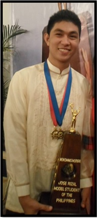 BSN Senior Student wins Jose Rizal Model Student Search