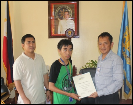 UEP stude, 5th placer in the Philippine Statistics National Quiz Bee